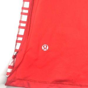lululemon athletica Tops - Lululemon Track And Train Tank Twin Stripe Red 12